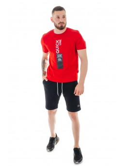 мъжки спортен летен комплект, памук еластан, Quick Line, модел 3001